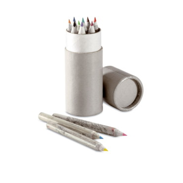 Colotub Recycled colour pencils in tube