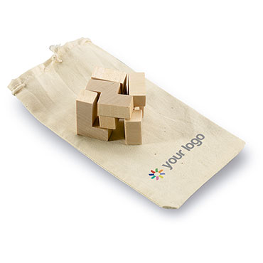 Trikesnats Wooden puzzle in cotton pouch