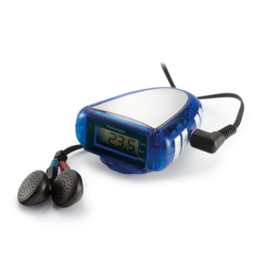 Faser Pedometer with FM scan radio