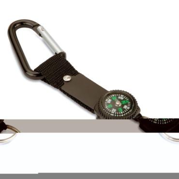 Keymax Carabineer compass keyring