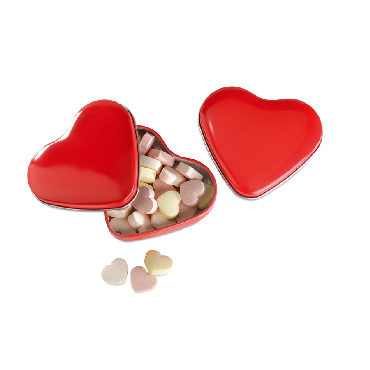 Lovemint Heart tin box with candies