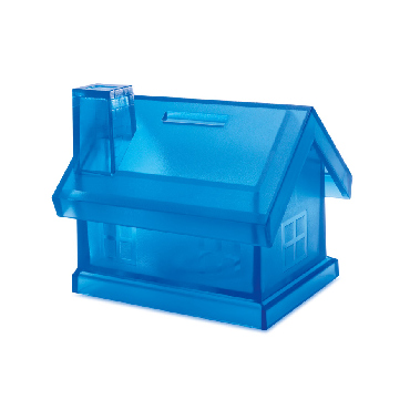 Tirelire maison plastique Mybank