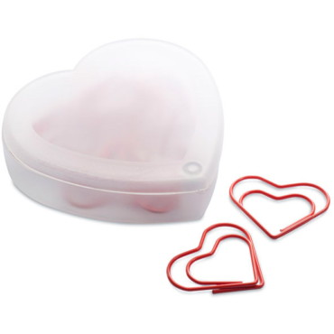 Coraclip Heart shape clips in box