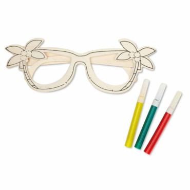 Breli Wooden glasses painting set