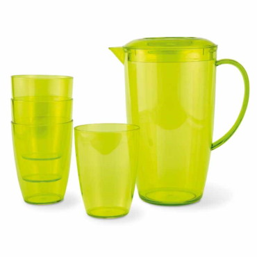 Davis Pitcher with 4 tumblers
