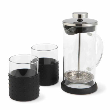 Temps 350ml coffeepot with 2 glasses