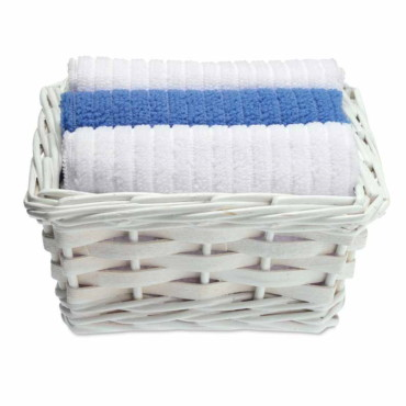 Matt Set of 3 towels in basket