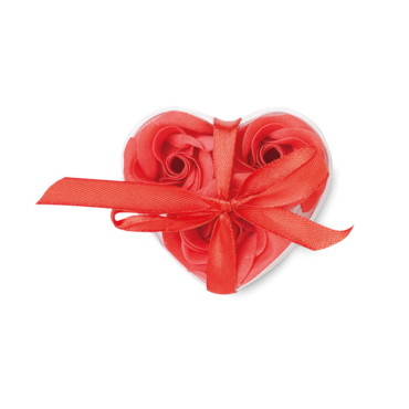 Roos Soap flower in heart shape