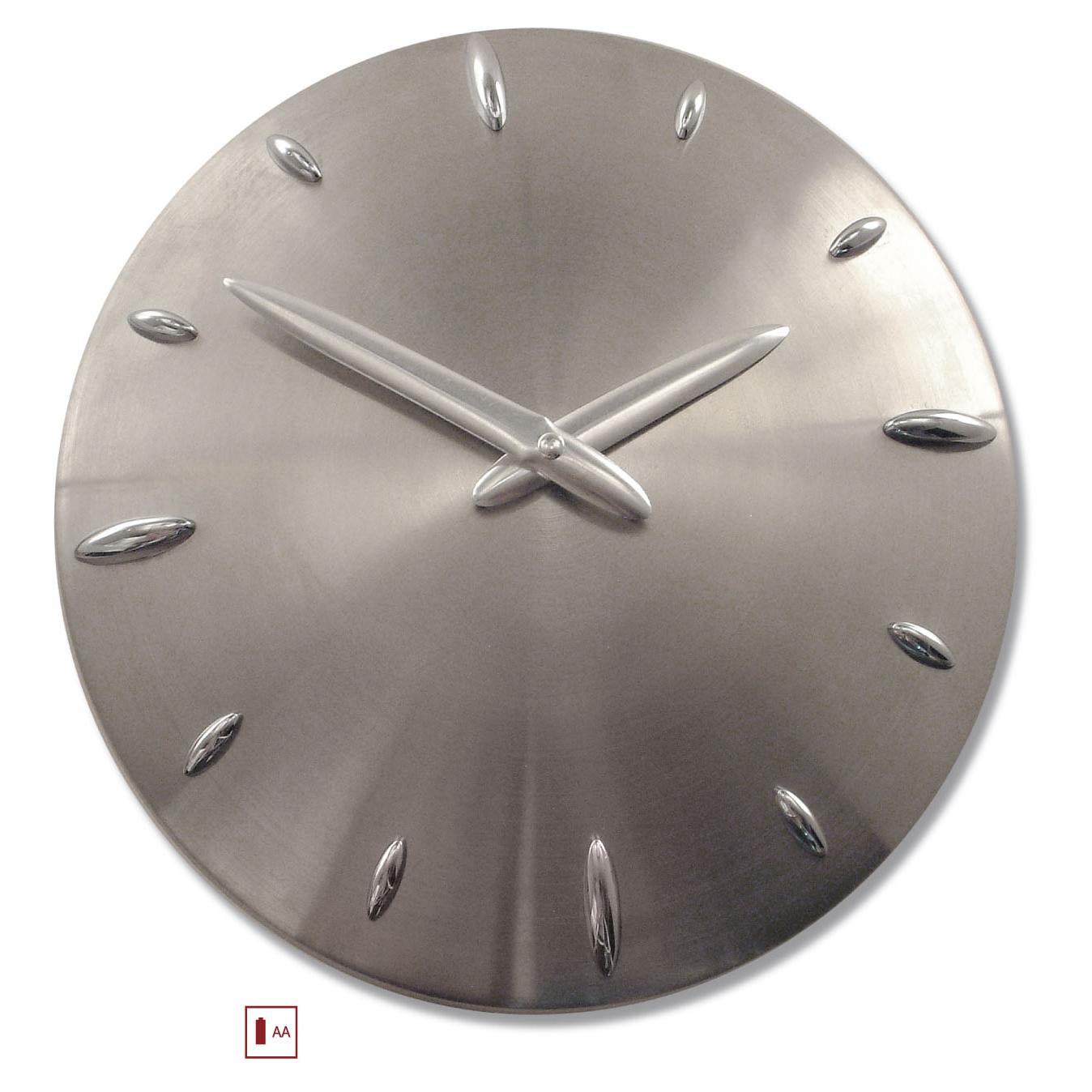 Reloj acero pared moderno - Reloj pared moderno ...