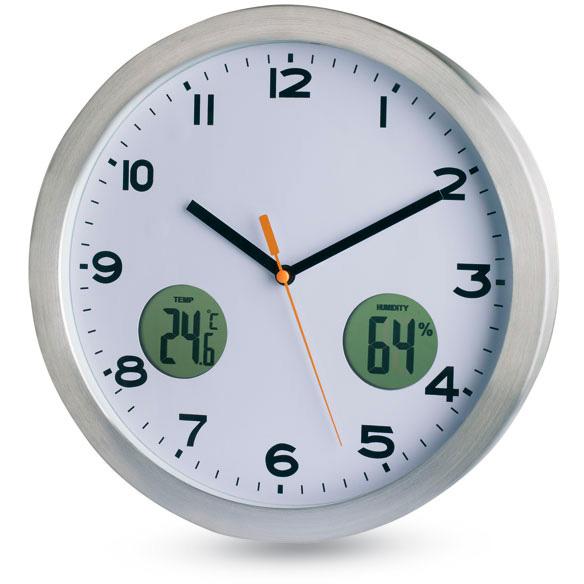 Reloj de pared con term metro maine - Termometro de pared ...