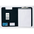 Bonded leather folder with an eight d...