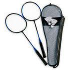 Badminton rackets in string pouch with 70D strap