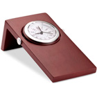 Woodclo Mahogany wood desk clock